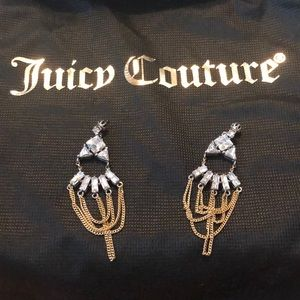 Juicy Couture rhinestone drop earrings